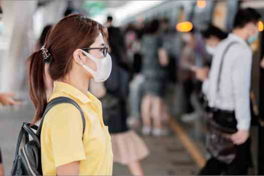 Wearing a mask is one way to take extra precaution against the spread of the coronavirus while commuting