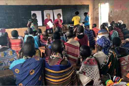 Teaching women's health and female genital mutilation to a group of Maasai women